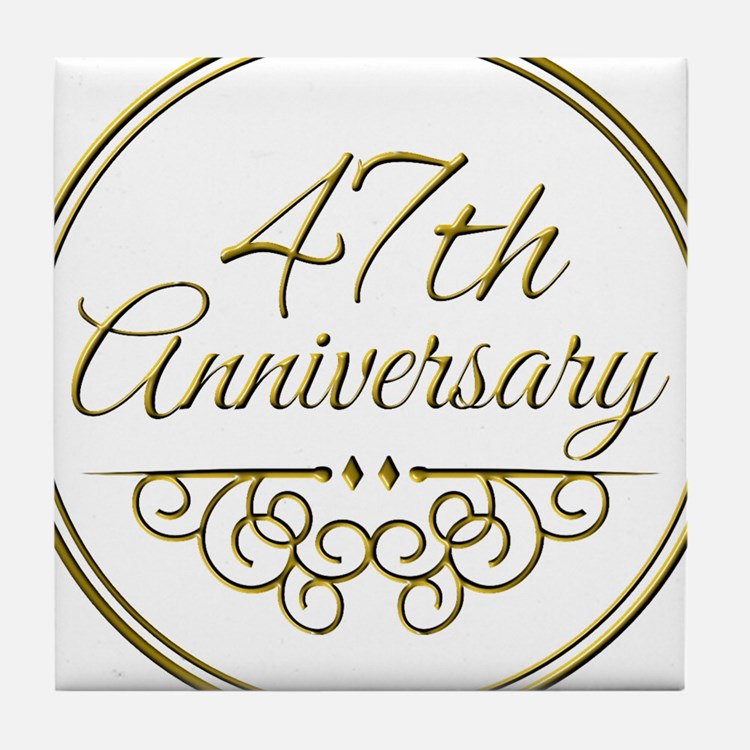 47th Wedding Anniversary 47th Wedding Anniversary Coasters