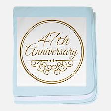 47th Anniversary baby blanket