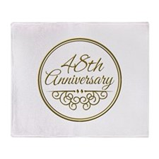 48th Anniversary Throw Blanket