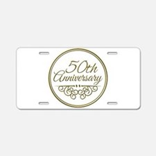 50th Anniversary Aluminum License Plate