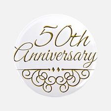"""50th Anniversary 3.5"""" Button"""