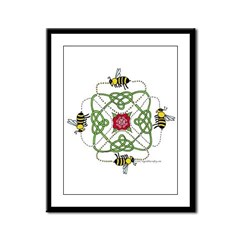 4 Bees Knot Framed Panel Print