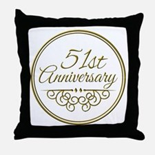 51st Anniversary Throw Pillow