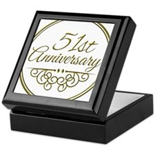51st Anniversary Keepsake Box