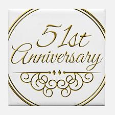51st Anniversary Tile Coaster