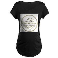 51st Anniversary Maternity T-Shirt