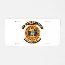 USMC - 1st Radio Battalion Aluminum License Plate