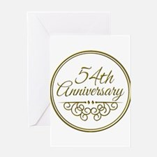 54th Anniversary Greeting Cards