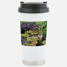Spring garden pond Travel Mug
