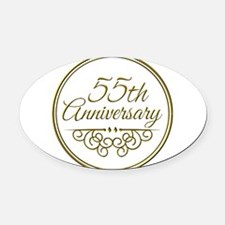 55th Anniversary Oval Car Magnet
