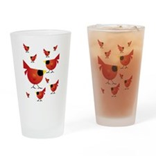 Red Cardinals Drinking Glass