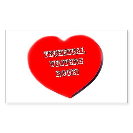 Technical Writers Rock! Rectangle Sticker