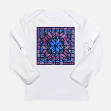Purple Quilt Long Sleeve T-Shirt