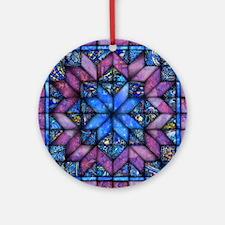 Purple Quilt Ornament (Round)