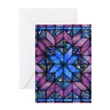Purple Quilt Greeting Cards