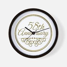 58th Anniversary Wall Clock