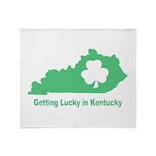 Getting Lucky in Kentucky Throw Blanket