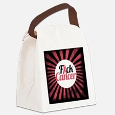 F Cancer Canvas Lunch Bag