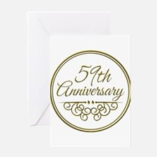 59th Anniversary Greeting Cards