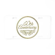 60th Anniversary Aluminum License Plate