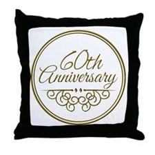 60th Anniversary Throw Pillow