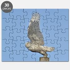Snowy taking flight Puzzle