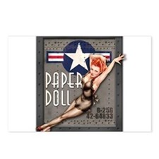Paper Doll B-25 WWII Nose Art Postcards (Package o