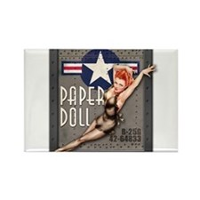 Paper Doll B-25 WWII Nose Art Magnets