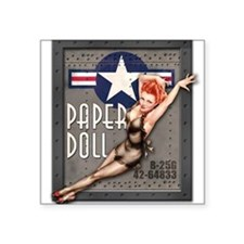 Paper Doll B-25 WWII Nose Art Sticker