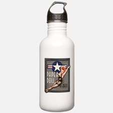 Paper Doll B-25 WWII Nose Art Water Bottle