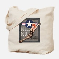 Paper Doll B-25 WWII Nose Art Tote Bag
