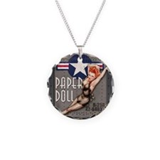 Paper Doll B-25 WWII Nose Art Necklace