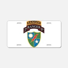 Unique Army ranger Aluminum License Plate