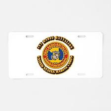 USMC - 1st Radio Battalion With text Aluminum Lice