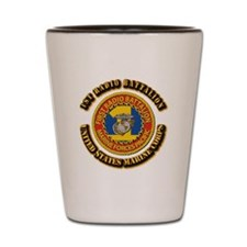 USMC - 1st Radio Battalion With text Shot Glass