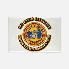 USMC - 1st Radio Battalion With text Rectangle Mag