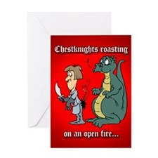 Roasting Chestknights Greeting Card