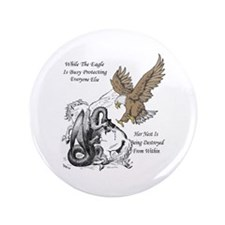 The Eagle 3.5&Quot; Button (100 Pack)