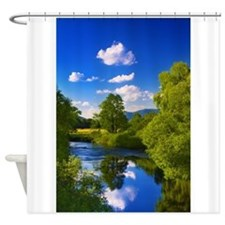 Reflection in the River Shower Curtain