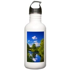Reflection in the River Water Bottle