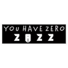 ZAZZ 1.0 Bumper Bumper Sticker
