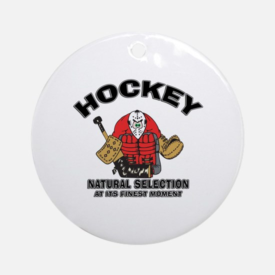 Hockey Goalie Ornament (Round)