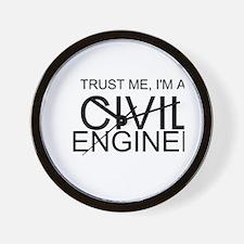 Trust Me, Im A Civil Engineer Wall Clock