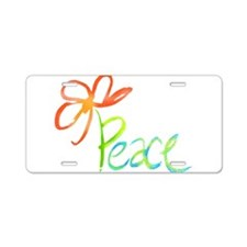 Cute Peace love Aluminum License Plate