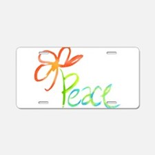 Cute Peace Aluminum License Plate