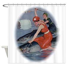 Fish Derby Shower Curtain