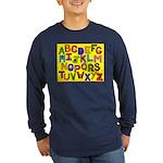 Alphabet Long Sleeve Dark T-Shirt