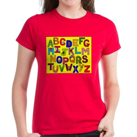 Alphabet Women's Dark T-Shirt