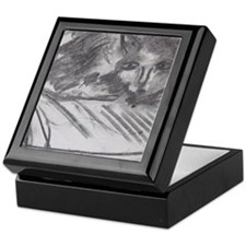 Cat on the Couch Keepsake Box