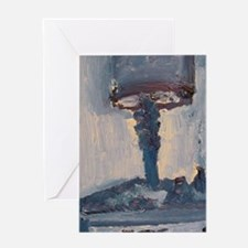 blue lamp Greeting Card